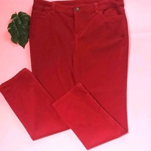 Style & Co. Red corduroy pants petite